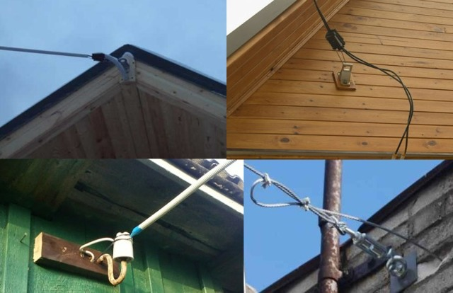 Прокладка кабеля по воздуху на даче