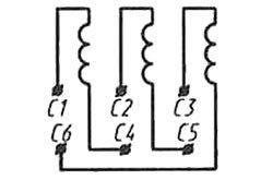 Типовые схемы подключения трехфазного двигателя к однофазной сети