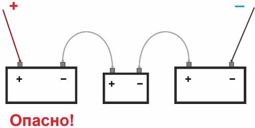 Схемы соединения аккумуляторов: параллельное и последовательное подключение, как сделать правильно