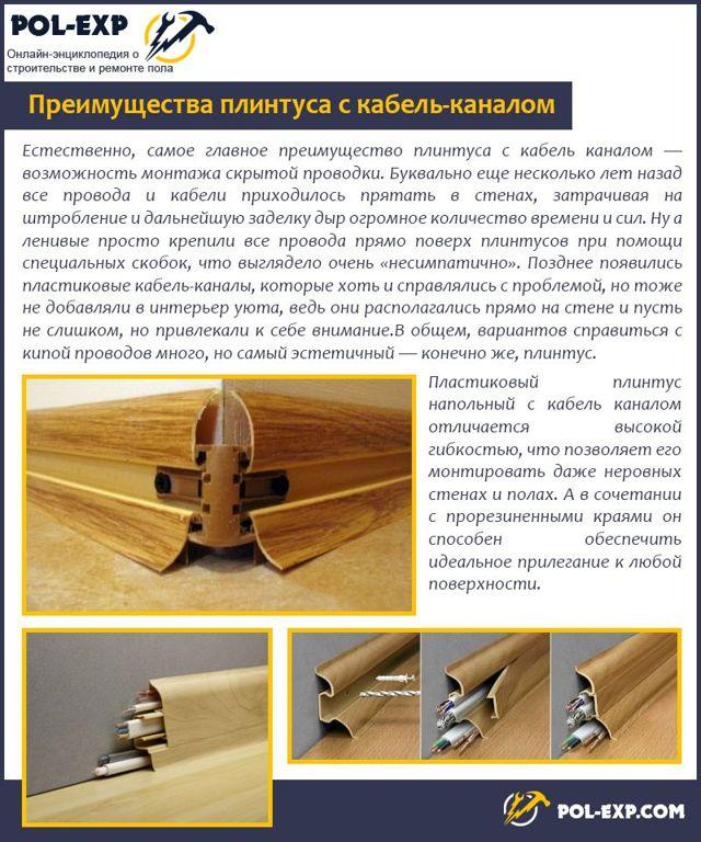 Использование электротехнических плинтусов - назначение, виды, достоинства, монтаж