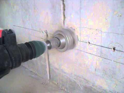 Как просверлить в стене отверстие под розетку