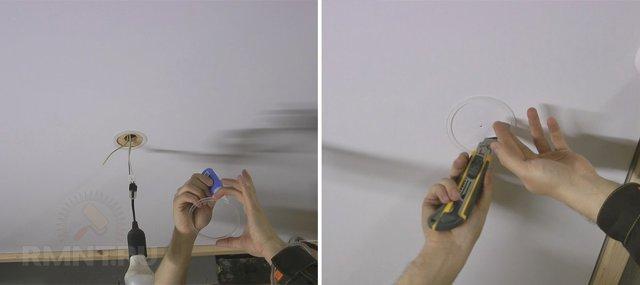 Особенности установки и подключения светодиодных светильников в натяжной потолок