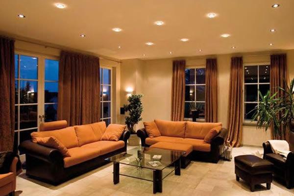 Как расположить светильники на потолке