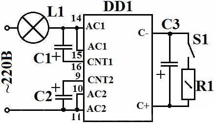 Простой регулятор мощности для плавного включения ламп