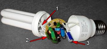 Продлеваем жизнь компактной люминесцентной лампе (экономке)