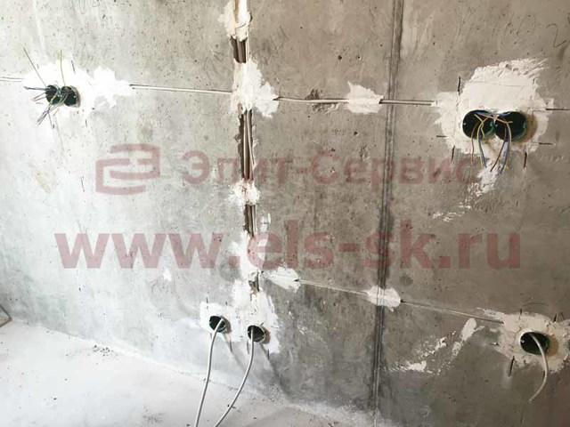 Монтаж электропроводки в загородном доме