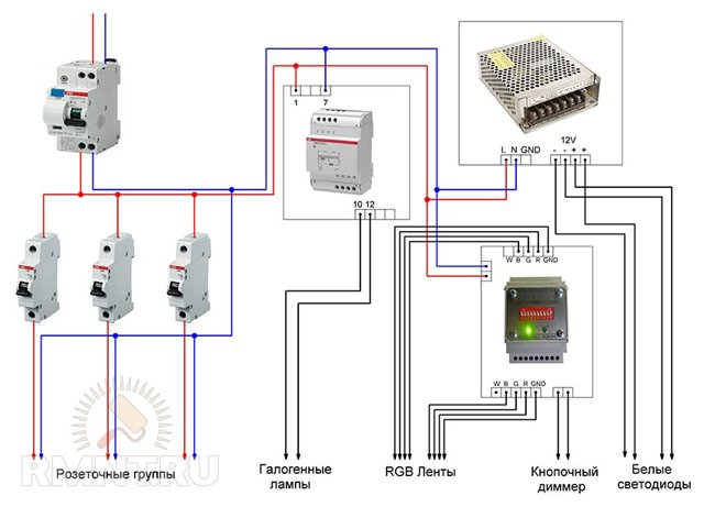 Специфика монтажа линий освещения с электронными трансформаторами