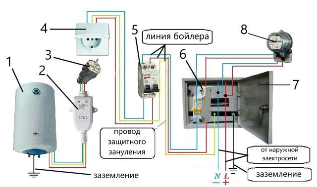 Способ подключения водонагревателя и насоса при недостаточной мощности сети
