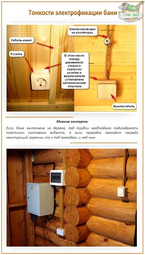 Как сделать электропроводку в бане