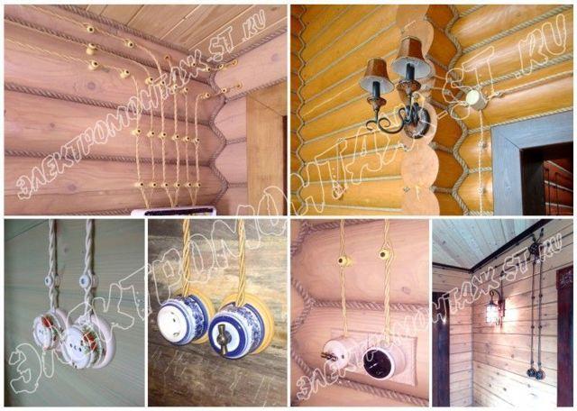 Открытая электропроводка - популярные способы прокладки