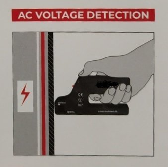 Пример использования металлоискателя для поиска скрытой электропроводки