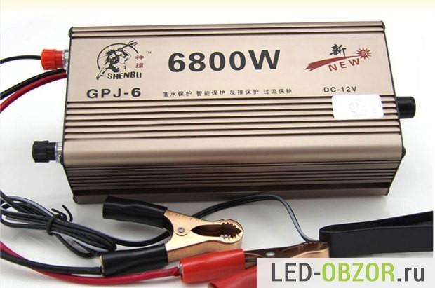 Простой преобразователь 12В в 220В 50Гц