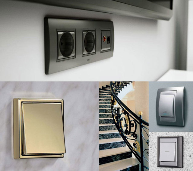 Современные розетки, выключатели и светорегуляторы в интерьере